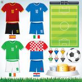 Euro 2012 Group C — Stock Vector