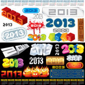 2013 Labels — Vector de stock
