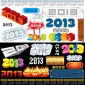 étiquettes de 2013 — Vecteur
