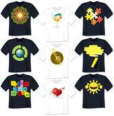 T рубашка шаблоны — Cтоковый вектор