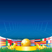 Football Background 2012 — Stock Vector