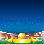 Football Background 2012 — Stock Vector