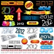 2012 tags — Vector de stock