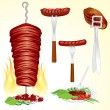 Grilled Meat - Imagen vectorial