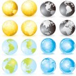 Variety Globes - Stock Vector