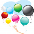 Stock Vector: Cute Balloons