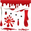 Stock Vector: Blood Decorations