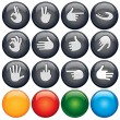 Button Hand Sign — Vettoriale Stock #8438155