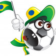 Royalty-Free Stock Vector Image: Brazil Fan