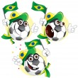 Brazilian cartoon ball - Stock Vector
