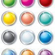 Multicolored vector buttons - Stok Vektör