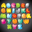 Vector de stock : Cartoon Alphabet