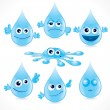 Royalty-Free Stock Vector Image: Cartoon Drops