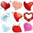 Design Hearts — Stock Vector
