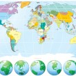 Royalty-Free Stock Imagem Vetorial: Political World Map