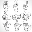 Contour Hands 2 — Vector de stock #8438379