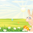 Stock Vector: Easter Bunny Backdrop
