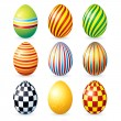 Decorative Eggs - Stock Vector