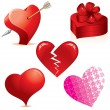 Vector de stock : Hearts Set