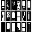 Door forms — Stock Vector