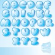 Design Ice Font — Stock Vector