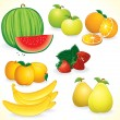 Fresh Fruits Set — Stock Vector