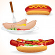 Stock Vector: Freshenes Hot Dog