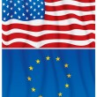 EU and US — Stock Vector