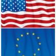 EU and US — Stock Vector