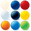 Colorful Rainbow Balls — Vector de stock #8438736