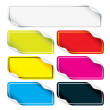 Colored Stickers — Stock Vector