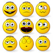 Fun Smileys — Stockvectorbeeld