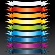 Colored Ribbons - Stock Vector