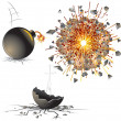 Detonation - Stock Vector