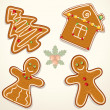 Stock Vector: Gingerbread cookie