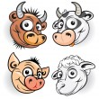 Stock Vector: Funny Farm