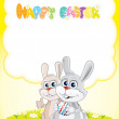 Happy Easter Card — Stockvektor