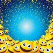 Smiley Background - Stock Vector
