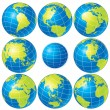 Royalty-Free Stock Vector Image: Globe Set