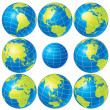Globe Set — Stock Vector