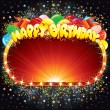 Happy Birthday Sign — Image vectorielle