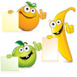 Funny Fruits — Stock Vector #8438949
