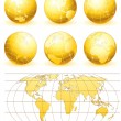 Golden Globes - Stock Vector