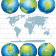 Royalty-Free Stock Vector Image: Globes