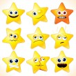 Royalty-Free Stock Vector Image: Funny Stars