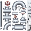 Industrial Conduit - Imagens vectoriais em stock