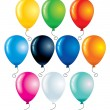 Stock Vector: Colorful Balloons