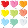 Heart shaped balloonrs — Image vectorielle