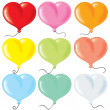 Heart shaped balloonrs - Stockvectorbeeld