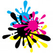 Ink Splodge - Stock Vector